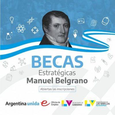 INSCRIPCIONES ABIERTAS PARA EL PROGRAMA NACIONAL DE BECAS ESTRATÉGICAS MANUEL BELGRANO