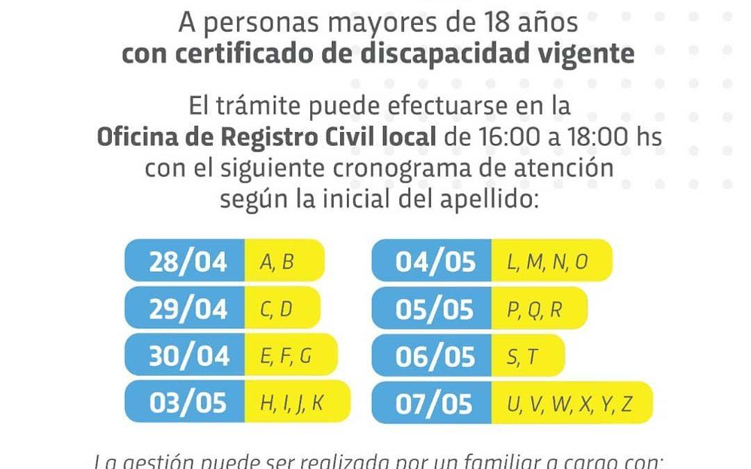 EL REGISTRO CIVIL CREARÁ CUENTA CIDI A PERSONAS CON DISCAPACIDAD