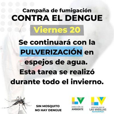 CRONOGRAMA DE FUMIGACIONES CONTRA EL DENGUE
