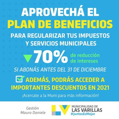 PLAN DE BENEFICIOS PARA REGULARIZAR IMPUESTOS MUNICIPALES