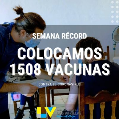 CORONAVIRUS: SEMANA RÉCORD DE VACUNACIÓN EN LAS VARILLAS