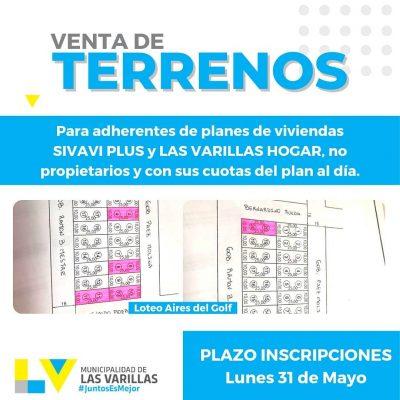VENTA DE TERRENOS PARA ADHERENTES DE PLANES DE VIVIENDAS