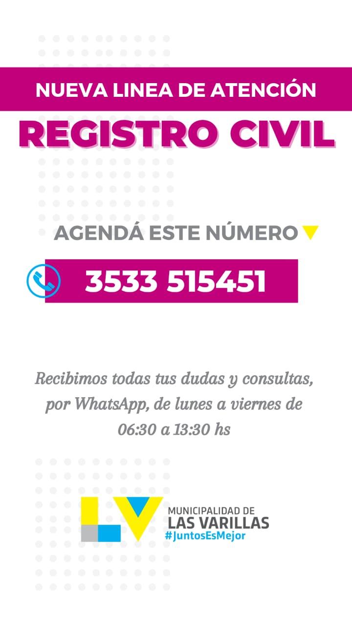 NUEVA LÍNEA DE ATENCIÓN EN EL REGISTRO CIVIL